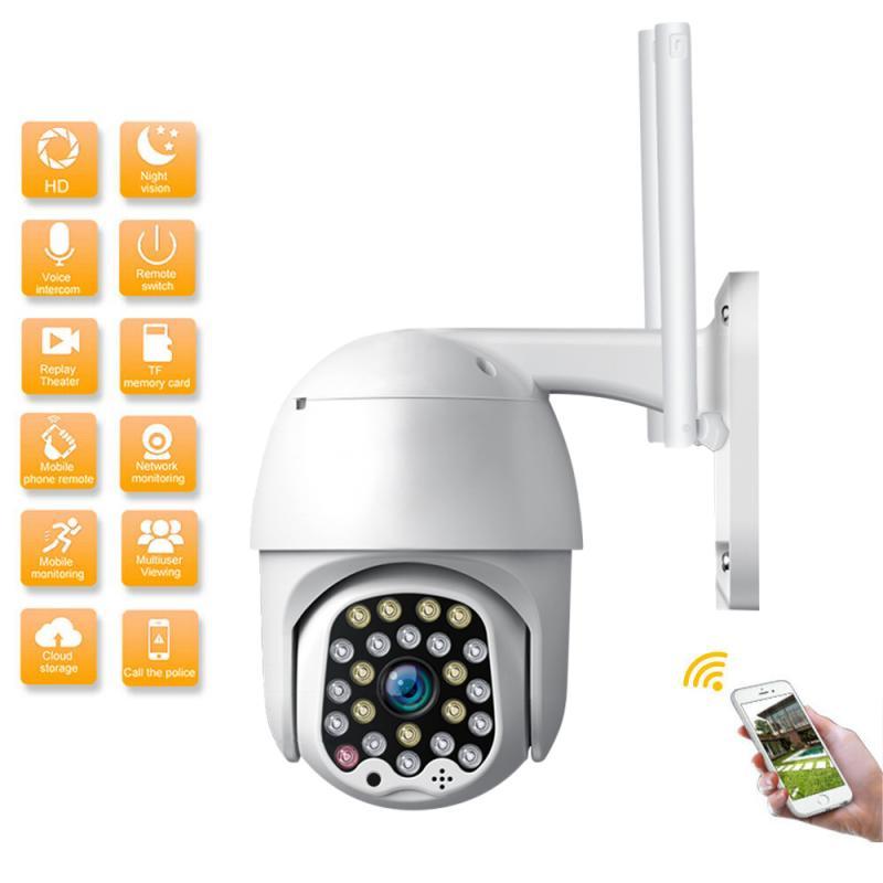 1080P HD 2MP PTZ IP Camera Wifi Outdoor Speed Dome CCTV Security Camera 4X Digital Zoom 2MP Network IR Home Surveillance Camera