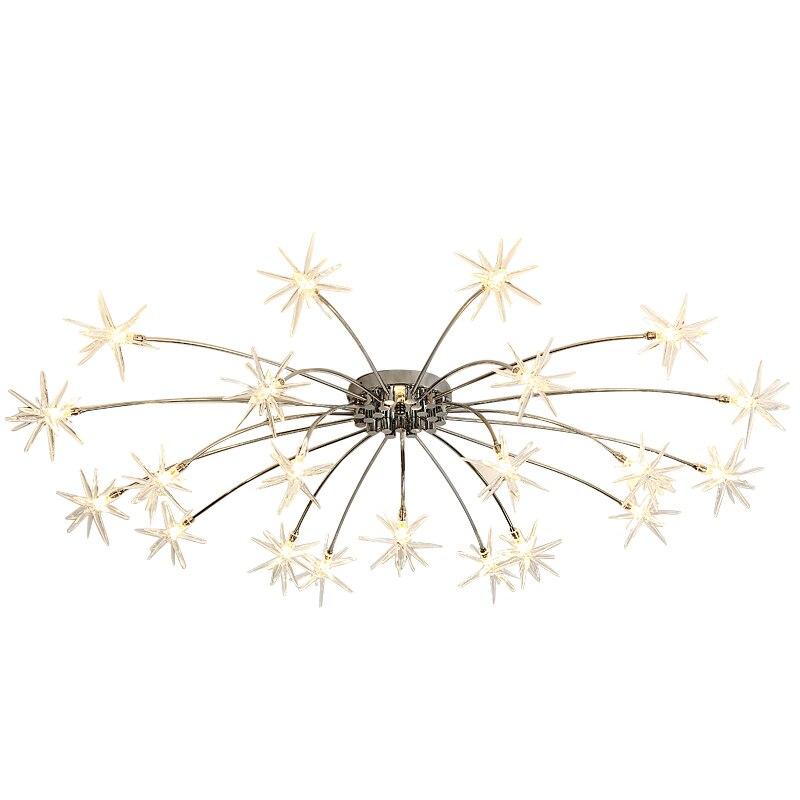 Nouveauté 2019 lampe de pendentif LED flocon de neige moderne abat-jour clair 28 lampe lumière G4 LED ampoule luminaire créatif lampara