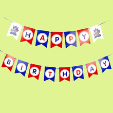 Captain America / Transform Happy Birthday Banner Garland the Avengers Kid Boy Party Hanging Decoration Supplies