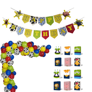 Theme Toy Inspired Story Birthday Banner Balloons Garland Party Favor Gift Bags for Kids Bday Supplies
