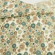 Ткань из 100% хлопка с цветочным дизайном одежда кукла для скрапбукинга
