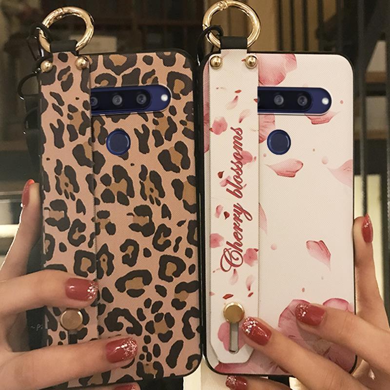 Kickstand Cover Phone Case For LG Q70 TPU Silicone Cartoon Anti-Knock Durable Fashion Design