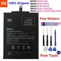 Xiao mi batterie de téléphone d'origine pour Xiao mi rouge mi Note 4 4X5 3 Pro 3S 3X 4X mi 5 M5 4A Note 5A/Pro 5 Plus batteries de remplacement
