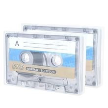 2Pcs Standard Cassette Blank Tape Player Empty 60 Minutes Magnetic Audio Tape Recording For Speech Music Recording