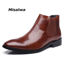 Pointed-Shoes Chelsea-Boots Short Boot-Gentleman British Misalwa-Spring/winter Casual