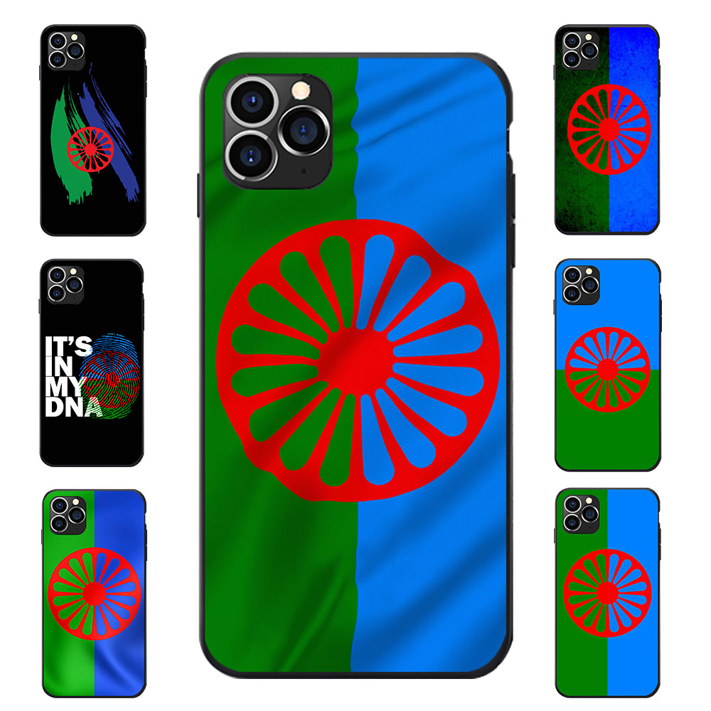 For REDMI 5 6 7 8 T A K20 30 S2  NOTE  PRO PLUS Gypsy Romany Roma Travellers Flag Theme Soft TPU Phone Back Cases