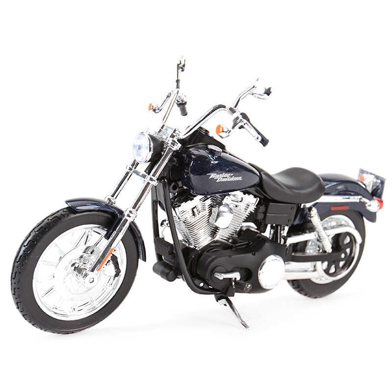 1:18 2006 Harley-Davidson Dyna Street Bob Motorcycle Black Diecast Model Toys