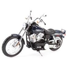 Maisto 1:12 2006 FXDBI Dyna Street Bob, vehículos de fundido a presión, pasatiempos coleccionables, juguetes modelo de motocicleta