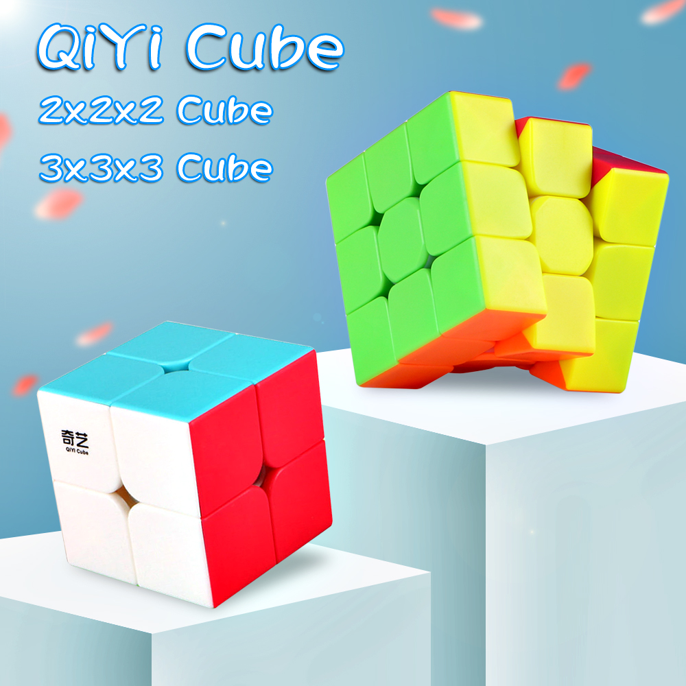 Qiyi Warrior S 3x3x3 Magic Puzzle Cube Professional QIDI S 2x2x2 Stickerless Speed Cubes Cubo Magico 2x2 3x3 Toy For Childre