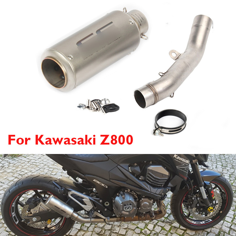 Z800 Motorcycle Exhaust System Tip Muffler Silencer Link Connect Pipe Whole Set Pipe for Kawasaki Z800 2013 2014 2015 2016 in Exhaust Exhaust Systems from Automobiles Motorcycles