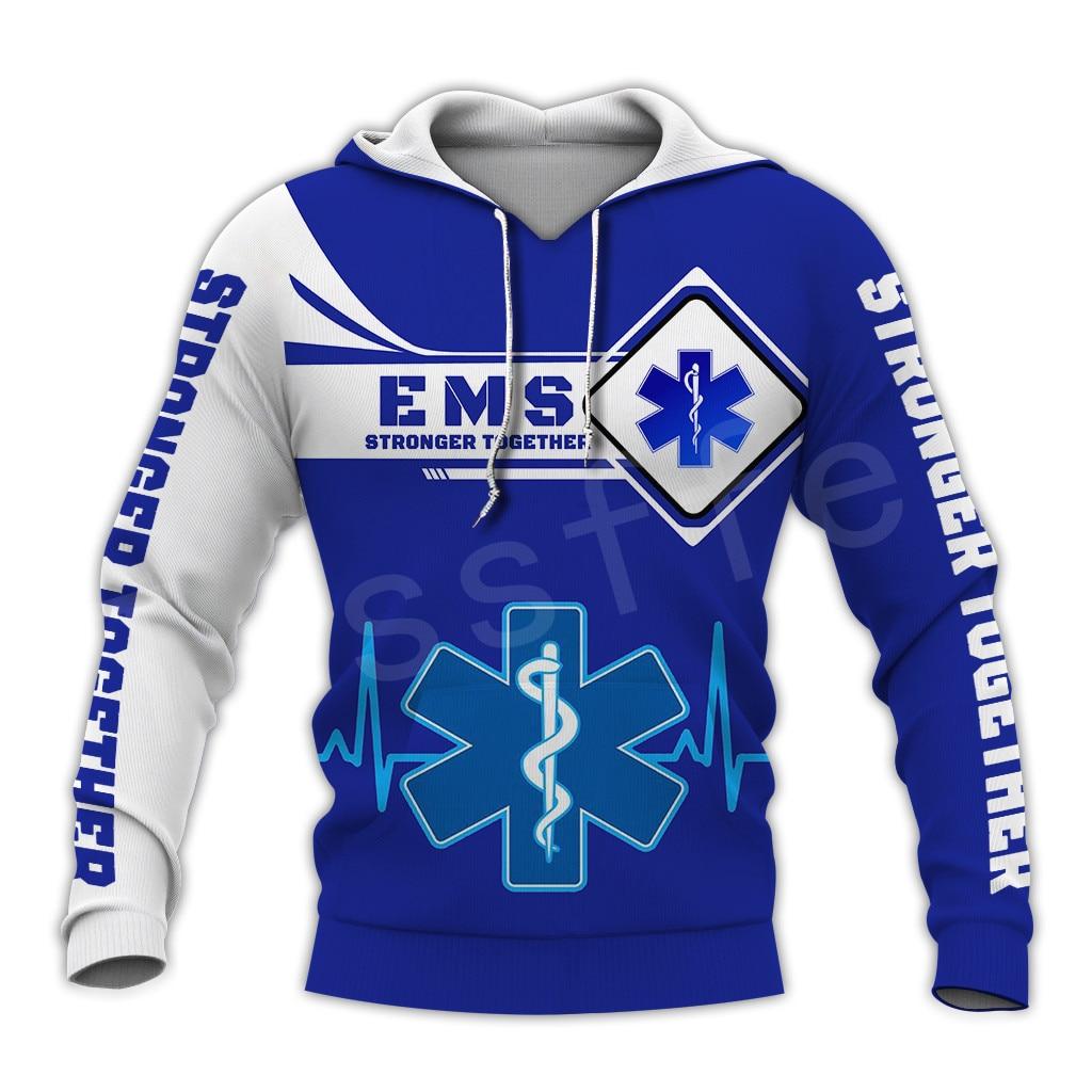 Tessffel Emergency Medical Technician EMT EMS Paramedic NewFashion Unisex Pullover 3DPrint Sweatshirt/Hoodies/zipper/Jacket S-14