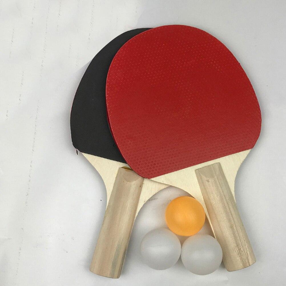 Rubber Faced Table Tennis Racket Beginner Training Ping-Pong Board Table Tennis Racket Set Indoor Sport Physical Exercise Balls