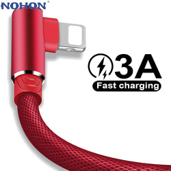 USB Cable For iPhone 12 11 Pro Max X XR 5 6 SE 6S 7 8 Plus Apple iPad Long 1m 2m Fast Charge Data Charger Cord Mobile Phone Wire