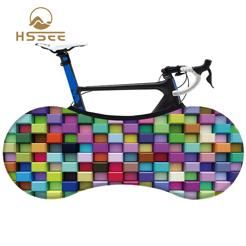 HSSEE 2020 Fashion Bicycle Indoor Dust Cover High-quality Elastic Fabric Non-fading MTB Road Bike Tire Protection Cover