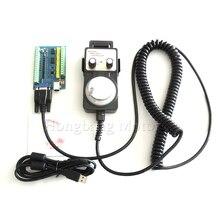 MACH3 USB 5 osi 100KHz USBCNC gładki sterownik ruchu krokowego tabliczka zaciskowa karty + 1 sztuk wysokiej jakości przemysłowe koło ręczne