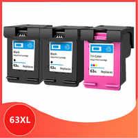 3Pk 63XL cartucho Compatible para hp 63 XL cartucho de tinta para hp63 para Deskjet serie 1110, 2130, 2131, 2132, 3630, 4250, 5220, 5230, 5232, 5252