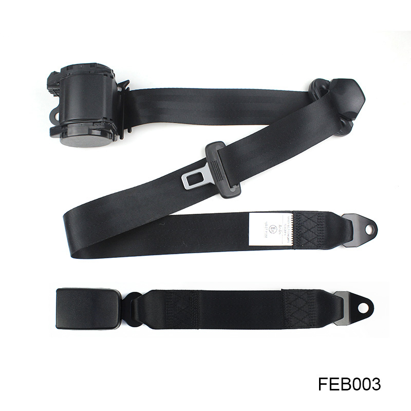 Универсальный ELR Выдвижной 3 точечный авто автомобильный ремень безопасности для всех автомобилей черный Цвет (FEB003)