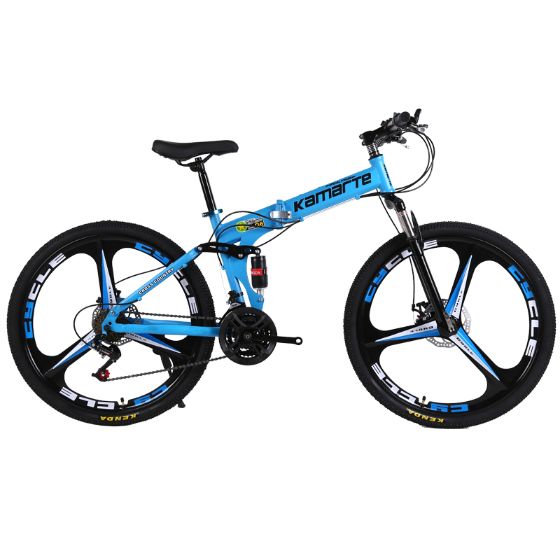 30speed Mountain Bike Bicycle Folding Adult Outdoor MTB 24/26 Inch Knife Wheel Carbon Steel Frame Double Disc Brake Student Bike