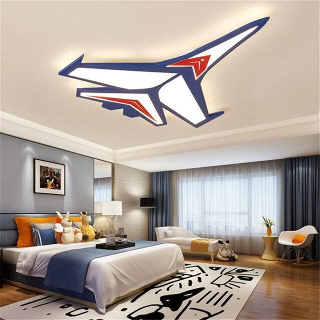 الكرتون الطائرة Led أضواء السقف الحديثة الأطفال مصباح السقف للطفل غرفة نوم المنزل داخلي إضاءة للتزيين تركيبات