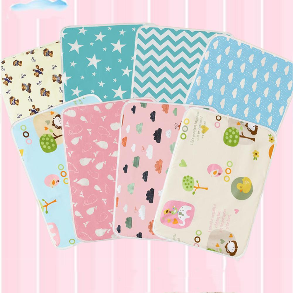 Baby Changing Pad Infant Diapers Mattress Kids Nappy Washable Cartoon For Newborn Bedding Urine Mat Waterproof 60*75CM