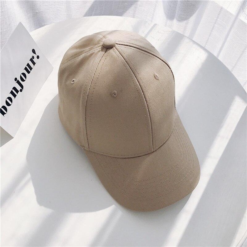 Women Baseball Cap Snapback Casquette Solid Color Men's Baseball Cap Outdoor Sun Hats Summer gorras hombre Adjustable Caps 2020 (16)