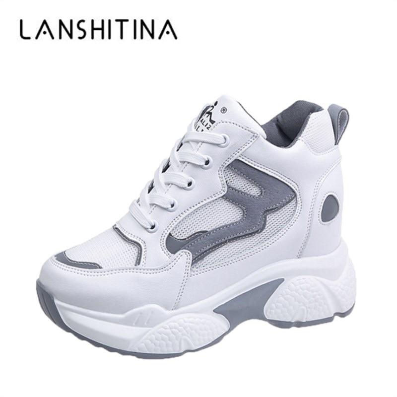 high platform sneakers white