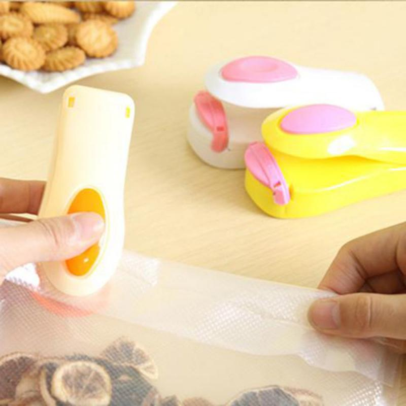 6 Color Portable Mini Sealing Household Machine Heat Sealer Capper Food Saver For Plastic Bags Package Mini Gadgets
