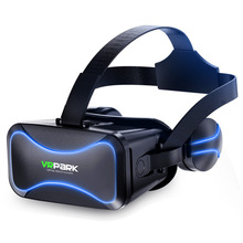 VRPARK j30 VR Glasses with Headset Version Virtual Reality Goggles Panoramic 3d Glasses Ar VR Helmet For 4 - 6 inch mobile Phone