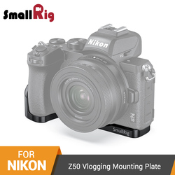 SmallRig Z50 Bracket Plate For Nikon Z50 L Shaped Side Plate+Baseplate Mounting Plate With Cold Shoe Mount - 2525