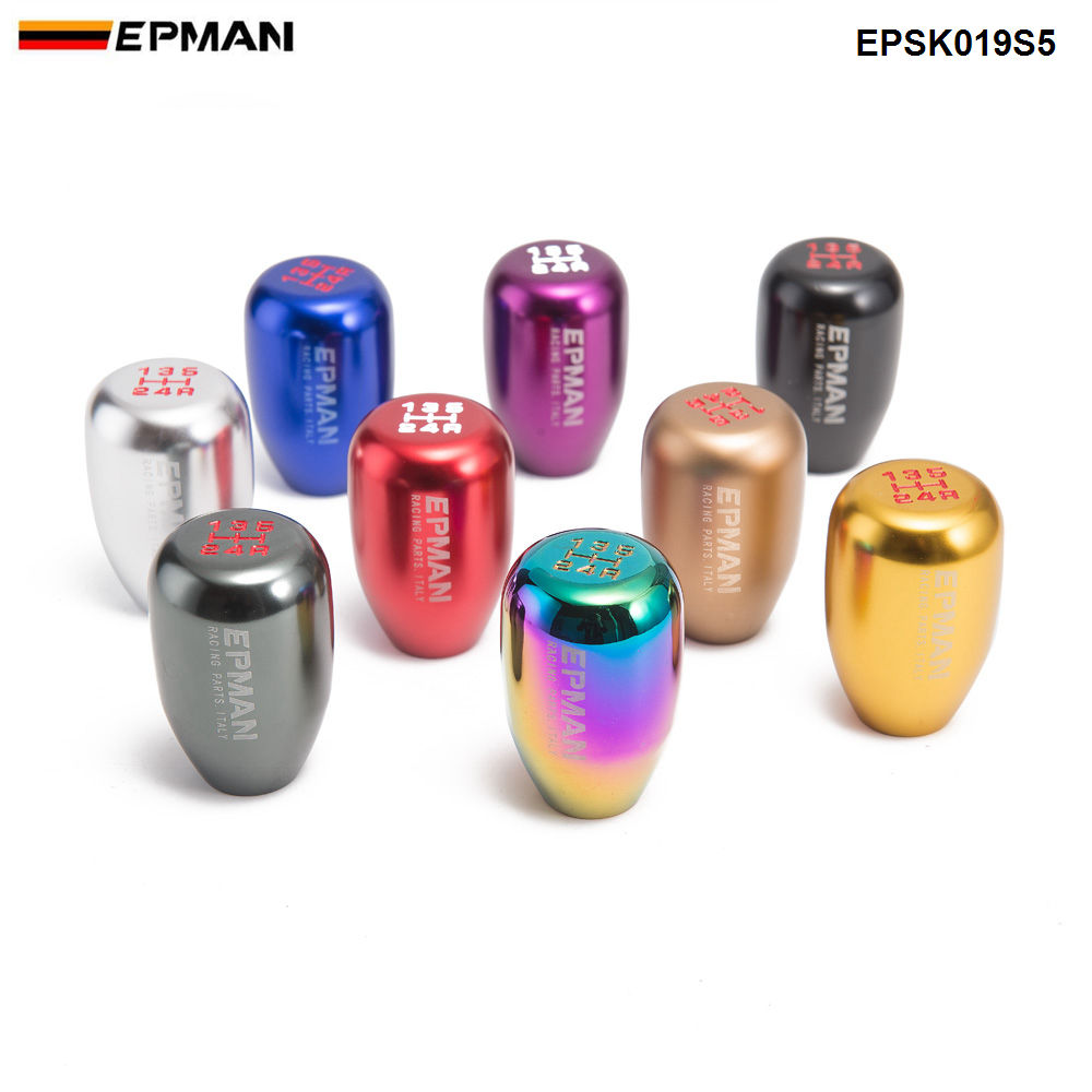 EPMAN Sport Universal Racing 5 Speed car Gear Shifter Knob Manual Automatic Gear Shift Knob Shift Lever EPSK019S5(China)