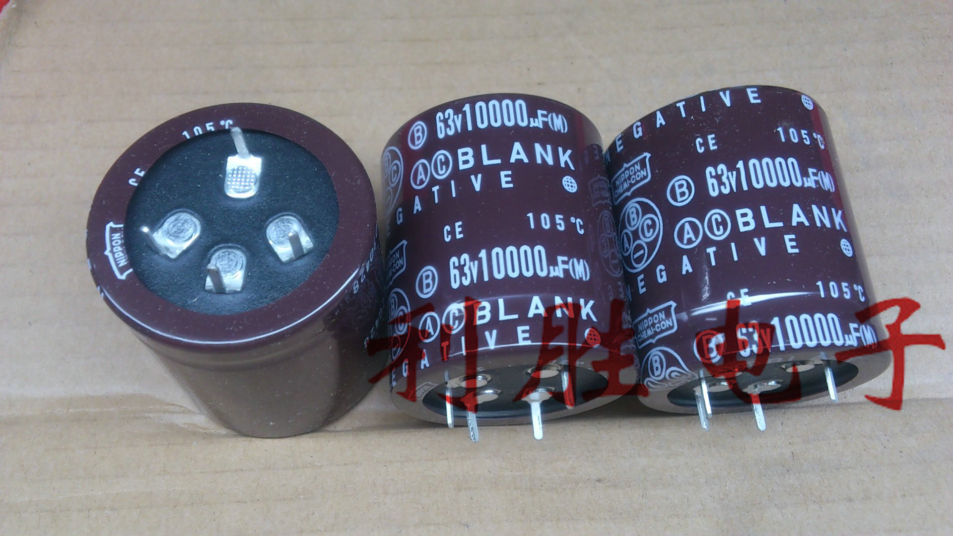 2PCS Brand New Genuine Chemical Nippon Aluminum Electrolytic Capacitor <font><b>63V10000UF</b></font> 40X45 Blank Legs free shipping image