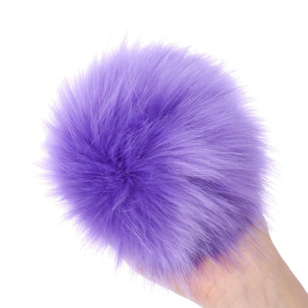 15 см цветные лисы Меховые помпоны для женщин шапка Меховые помпоны для шапок шапка s большой натуральный помпон из меха енота для вязаной шапки шапка - Цвет: 13