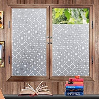 Privacy Window Film, Static Cling Glass Frosted Cling, Removable Heat Control Anti UV Self-adhesive Sticker