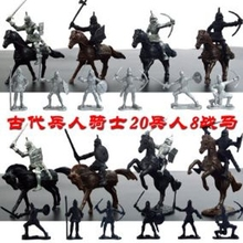 28pcs Medieval Knights Horses Kids Toy Soldiers Figures Model Playset 77HD
