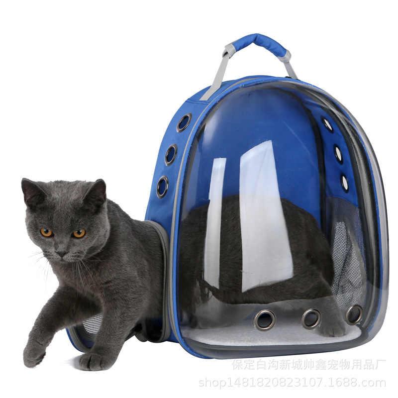 2019 สวยงาม Breathable กระเป๋าใส่สัตว์เลี้ยงแบบพกพา Outdoor Travel puppy cat โปร่งใส Space Pet กระเป๋าเป้สะพายหลังแคปซูล