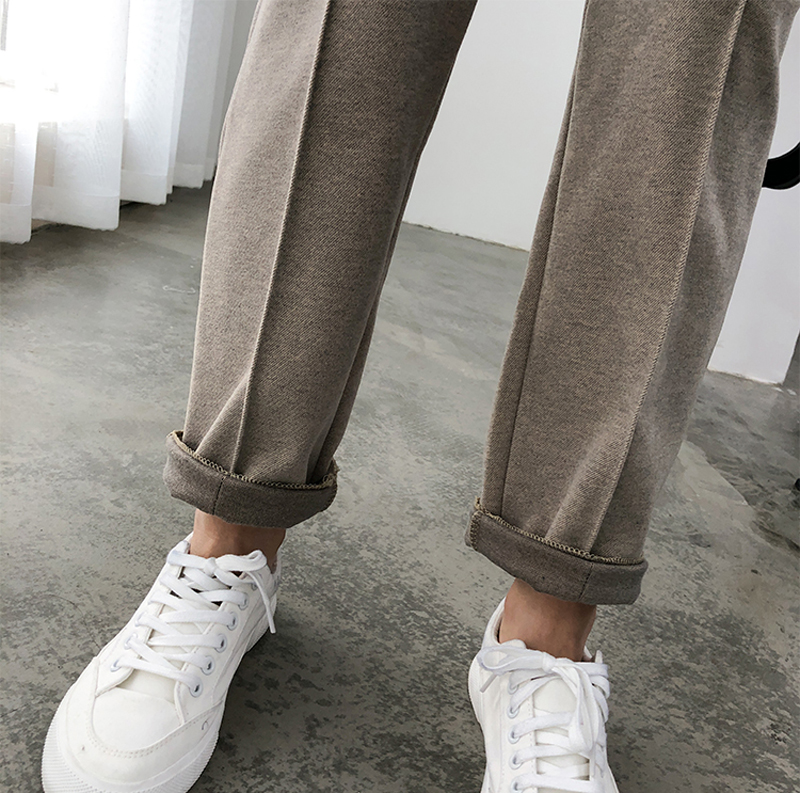 Hc96b2972bee64e8aa844b8181ac41109w - Thicken Women Pencil Pants Autumn Winter Plus Size OL Style Wool Female Work Suit Pant Loose Female Trousers Capris 6648 50