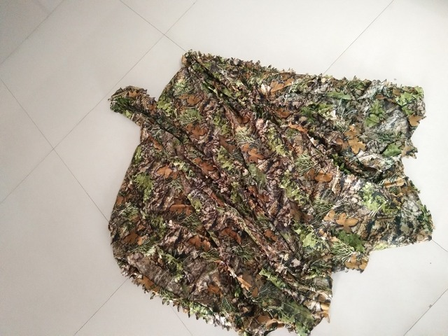 3D Leaves Cloak Dress Hunting Clothes Sniper Camouflage Ghillie Suit Maple Leaf Hunting Suit Ghillie Yowie Shooting Costume 2