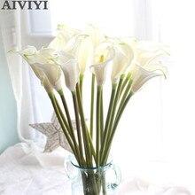 ビッグ 67 センチメートルリアルタッチカーラリリー造花結婚式装飾花偽の花の結婚式パーティーの装飾アクセサリー