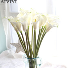 Fleurs de lys artificielles de Calla, grand, 67cm, fausses fleurs décoratives, pour mariage, accessoire de décoration de fête, mariage