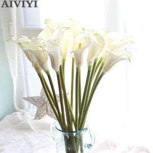 Image 1 - Lớn 67cm Thực Cảm Ứng Calla Lily Nhân Tạo Hoa Cưới Hoa Trang Trí Hoa Giả Tiệc Cưới, Phụ Kiện