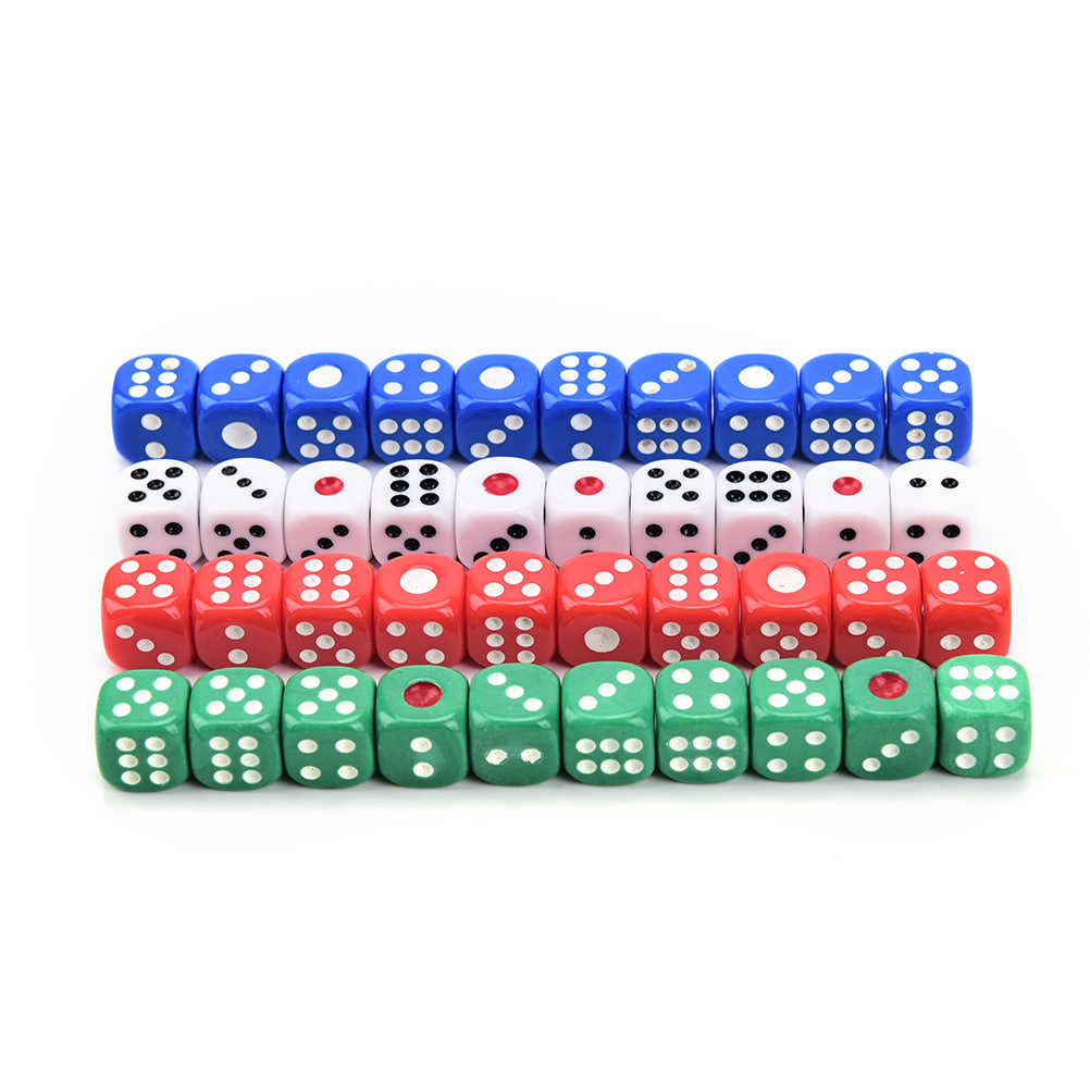 12mm 10 PCS אקריליק transaprent d6 קוביות, 6 צדדי הימורים קטן קוביות למשחק משחק