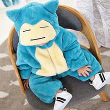 Snorlax Onesie Baby Romper Kigurumis Newborn Clothes Baby Girl Boy Clothing  Kid Jumpsuit Infant baby Party Costume