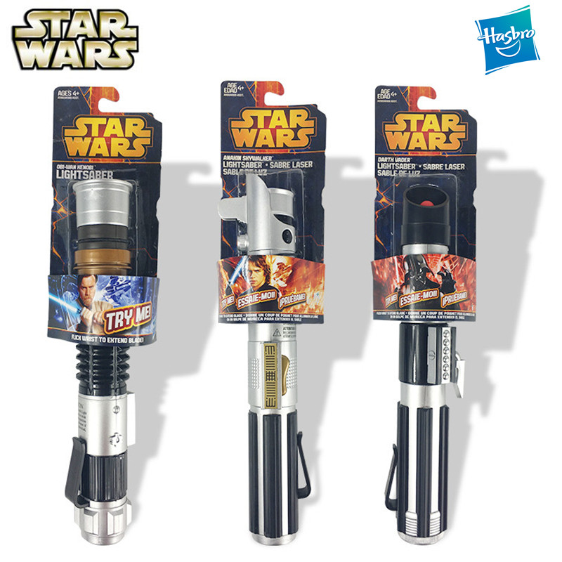 Star Wars Luminous Toys Force Awakening Retractable Lightsaber Darth Vader Anakin Collection No Lights Children Toys Laser Sword