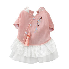 Chinese style spring and summer dog clothes dress