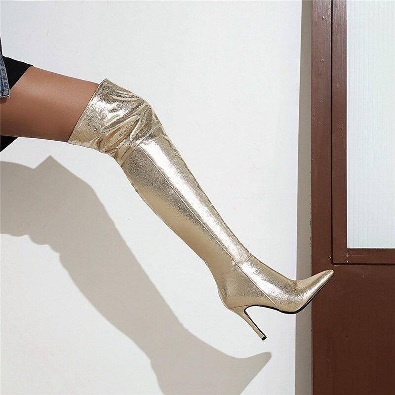 sapatos festa sobre-joelho botas femininas tamanho grande 33-46