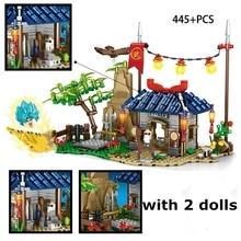 New 445pcs Dragon Ball Building Blocks Vegeta Turtle Fairy SAIYAN SUN GOKU MASTER ROSHI Blocks Figures Toys