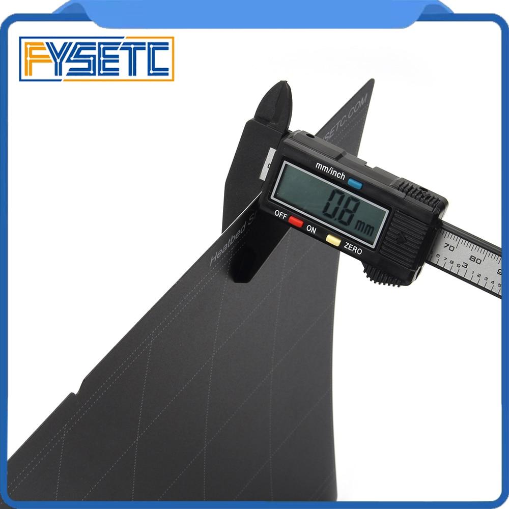 5pcs Prusa I3 MK3 MK52 Sheet Heat Bed Platform 3D Printer Buildplate Black Sticker Sheet For Prusa I3 Mk3 Mk2.5 Heat Bed