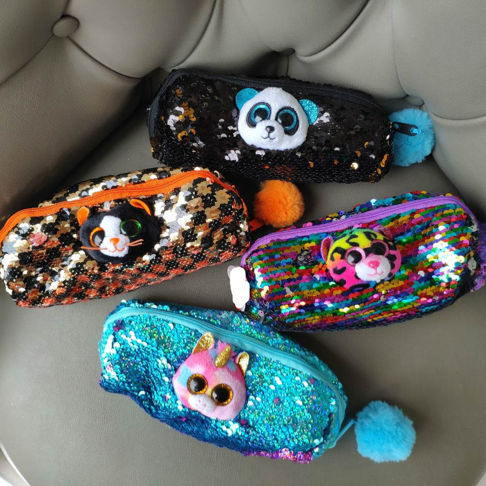 pencil box bag girl unicorn leopard cat panda sloth wristlet wallet soft toys kids toys gift good quality cute