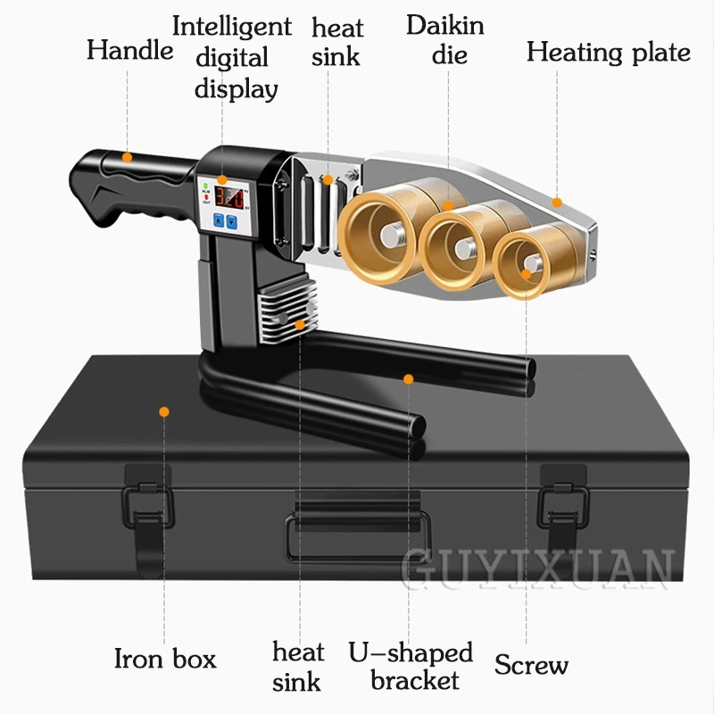 Tools : PPR hot melt machine Household hot melt welding machine Water pipe hot container does not stick to die head fuser 20-63mm