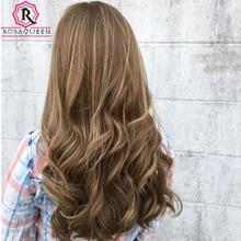 Perruque cosplay en soie de couleur Blonde – Rosa Queen, perruque de haute qualité, cheveux vierges non traités, Double épaisseur